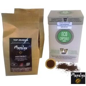 PACK 100 X ECOCAPSULE + 2 x 250G CAFE DELICATESSE MAPALGA