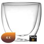 Lot de 4 verres à café double paroi 65 ml Sema Design