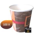 Gobelet carton décor passion 100 ml - 4 Oz x 100