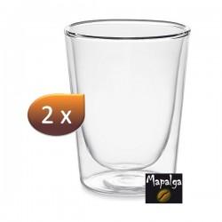 Lot de 2 verres double paroi Grand modèle droit SEMA 200 ml