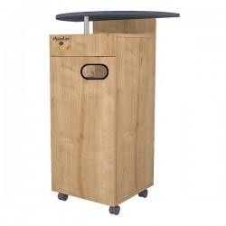 Meuble MAPALGA Chêne clair pour machine à café avec tiroir et deux poubelles