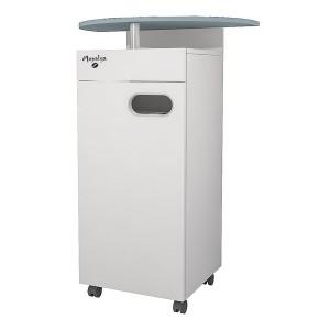 Meuble MAPALGA Blanc pour machine à café avec tiroir et deux poubelles