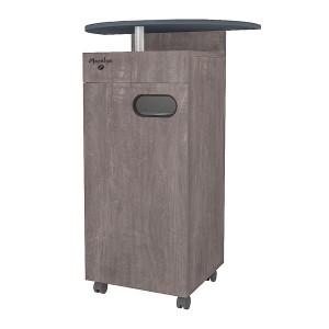 Meuble MAPALGA chêne vieilli pour machine à café avec tiroir et deux poubelles