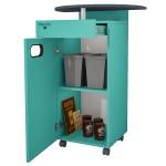 Meuble MAPALGA Vert pour machine à café avec tiroir et deux poubelles