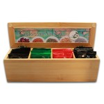 Coffret bambou de thé LOMATEA avec 4 thés de qualité