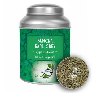 Thé vert SENCHA EARL GREY LOMATEA VRAC 100g