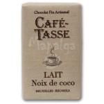 Tablette chocolat au lait Noix de coco 9g - CAFE TASSE