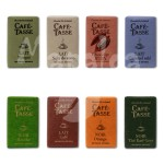 Assortiment de 8 mini tablettes de chocolat CAFE TASSE