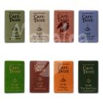 Assortiment de 8 mini tablettes de chocolat CAFE TASSE