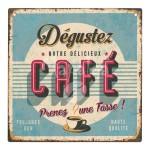 Plaque décorative Dégustez notre délicieux café 19x19 cm