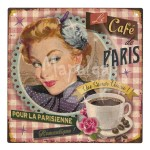 Plaque décorative Le café de Paris 19x19 cm