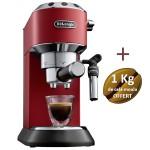 Machine à café DELONGHI Dedica Style - EC 695.R + 1 Kg de café moulu OFFERT