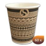 Gobelet carton décor ethnique 280 ml