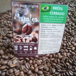 Café pure Origine Brésil CERRADO MAPALGA 250 g DLUO DEPASSEE