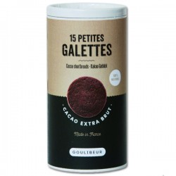 15 petites galettes CACAO Extra Brut GOULIBEUR - 150g
