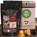 PACK 100 X ECOCAPSULE VEGEPLAST + 500G CAFE TOP ARABICA