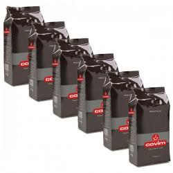 Pack x 6 Café grain Prestige 1kg - COVIM