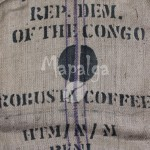 Sac de café vide en toile de jute - Robusta Coffee - Produce of D.R. Congo