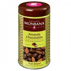 Amandes enrobées de chocolat au lait 180g MONBANA