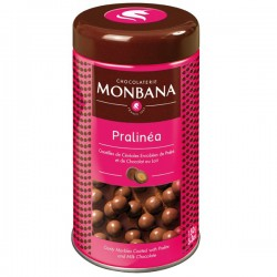 Pralinéa croustilles de céréales enrobées de praliné et chocolat au lait 150g MONBANA
