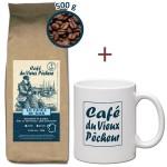 RECHARGE Café grain LE CAOUA DU SOIR 500g - CAFÉ DU VIEUX PÊCHEUR