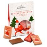 Pochette 12 mini tablettes chocolat au lait caramel salé et chocolat noir Edition Noël - CAFE TASSE
