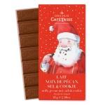 Tablette chocolat au lait noix de pécan sel & cookie Edition Noël CAFE-TASSE 85g