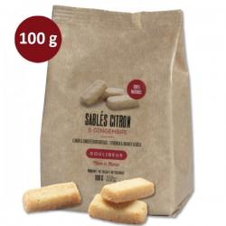 Sachet de sablés CITRON & gingembre GOULIBEUR VRAC 100g