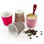 Coffret de 4 gobelets espresso 10 cl gris rose - LES ARTISTES PARIS