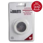 Set de 3 joints + 1 filtre cafetière aluminium 3/4 Tasses - BIALETTI