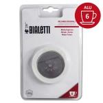 Set de 3 joints + 1 filtre cafetière aluminium 6 Tasses - BIALETTI