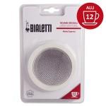 Set de 3 joints + 1 filtre cafetière aluminium 12 Tasses - BIALETTI