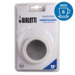 Set de 3 joints + 1 filtre cafetière INOX 6 Tasses - BIALETTI