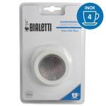 Set de 3 joints + 1 filtre cafetière INOX 4 Tasses - BIALETTI