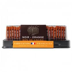 Réglette 24 carrés de chocolat NOIR-ORANGE 95g MONBANA
