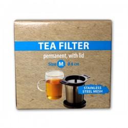 Filtre à thé permanent acier inoxydable diamètre 6 cm- CHACULT