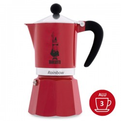 Cafetière Bialetti RAINBOW 3 tasses - Rouge