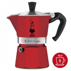Cafetière Bialetti MOKA EXPRESS 3 tasses - Rouge