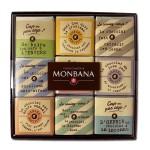 """Coffret collection 18 carrés de chocolat noir 70% cacao """"Cap ou pas Cap""""  70g MONBANA"""