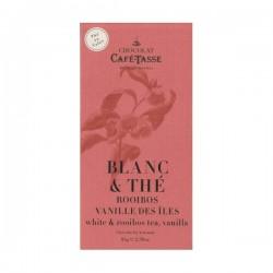 Chocolat blanc thé rooibos et vanille des îles - Café Tasse 85g DLUO DEPASEE