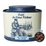 Boîte métal café grain LE CAOUA DU SOIR 500g - CAFÉ DU VIEUX PÊCHEUR