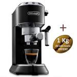 Machine à café DELONGHI Dedica Style - EC 695.BK + 1 Kg de café moulu OFFERT