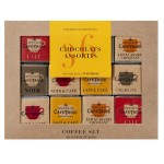 Coffee set 5 chocolats assortis x 36 napolitains - CAFE TASSE