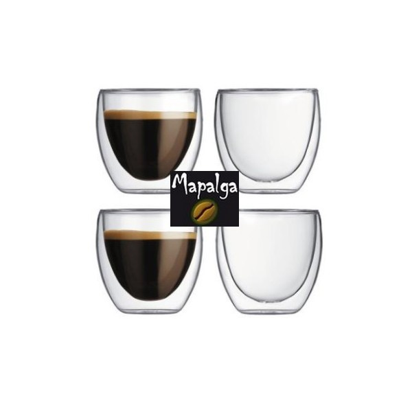 lot de 4 verres caf double paroi 70 ml sema design mapalga. Black Bedroom Furniture Sets. Home Design Ideas