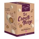 Les Crousti-Neige croustilles de céréales enrobées de chocolat au lait et chocolat blanc arôme café 135g MONBANA