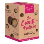 Les Crousti-Pralinéa croustilles de céréales enrobées de praliné et chocolat au lait 135g MONBANA