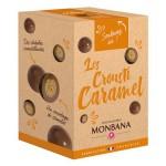 Les Crousti-Caramel croustilles de céréales enrobées de chocolat au lait saveur caramel 135g MONBANA