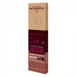 La MONBANETTE barre de chocolat NOIR cœur fondant ganache chocolat noir - 40g - MONBANA