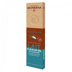 La MONBANETTE barre de chocolat LAIT Fleur de Sel de Guérande - 40g - MONBANA