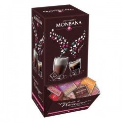 Assortiment de carrés de chocolat 10 saveurs x 200 - 800g - MONBANA